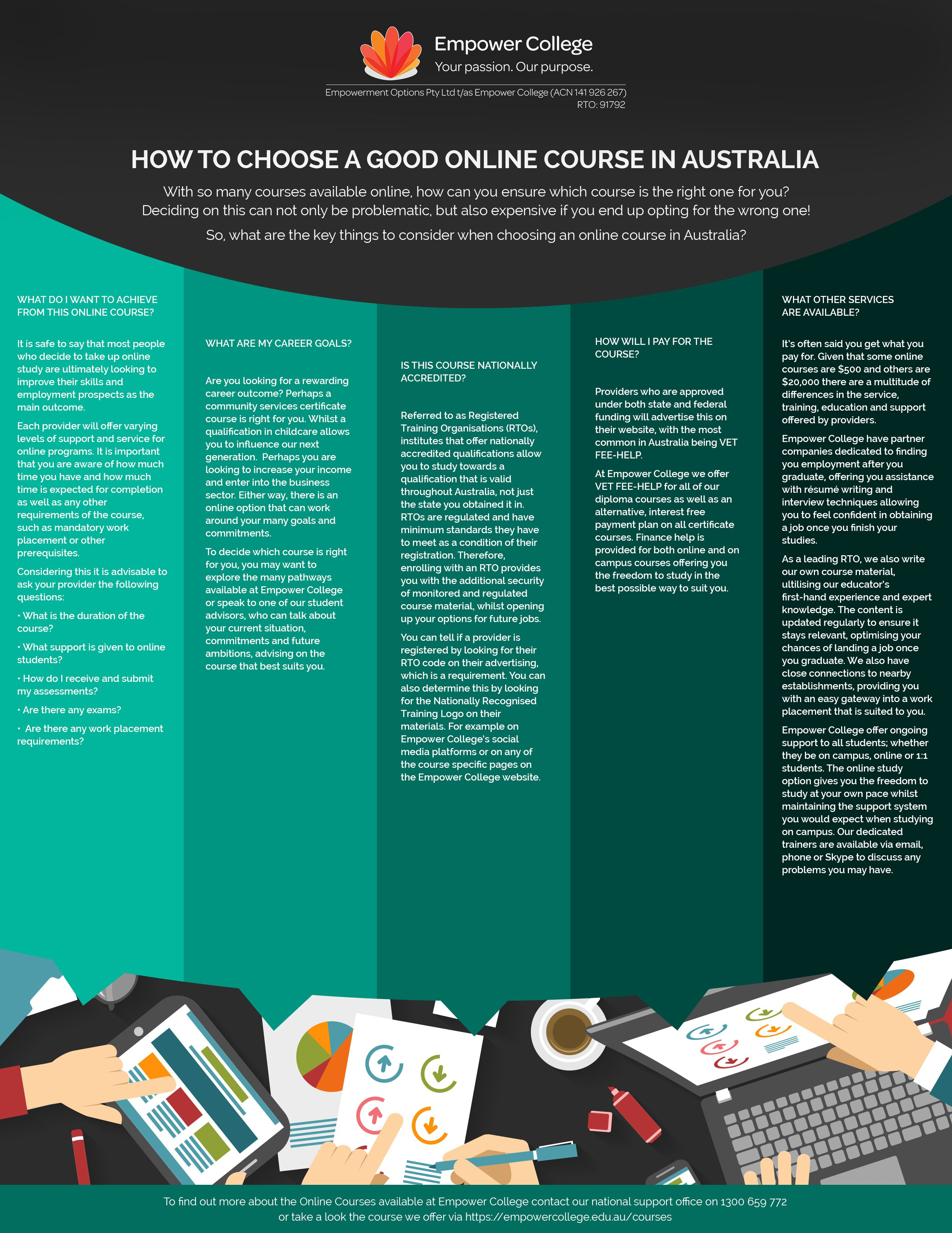 Choosing a good online course #empowercollege #online #course #study #studyonline #tips #studenttips