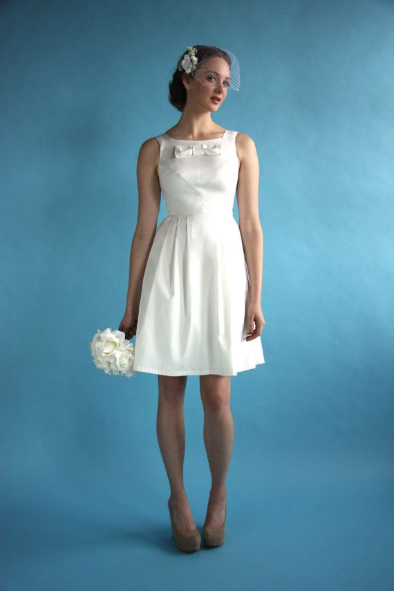Fit and flare short wedding dress with by BirdsOfNorthAmerica ...