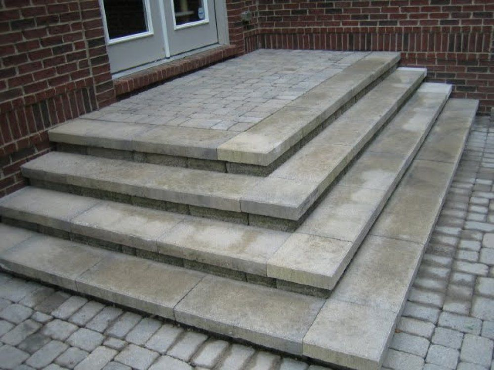 Patio Steps Pictures and Ideas square steps | Patio stairs ... on Square Paver Patio Ideas id=47222