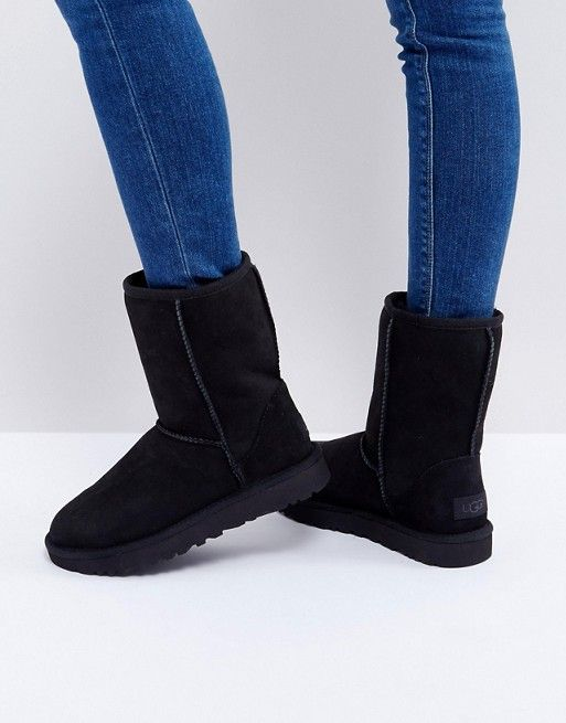 ugg black leather shoes