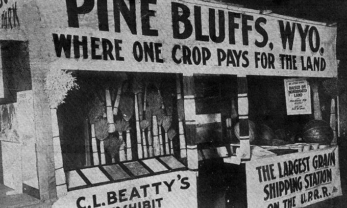Pine Bluffs, WY, about 40 miles east of Cheyenne near the Nebraska ...