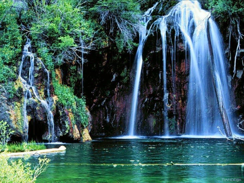 Kumpulan Gambar Air Terjun Tercantik Di Dunia Wallpaper Beautiful Landscape Wallpaper Scenic Nature
