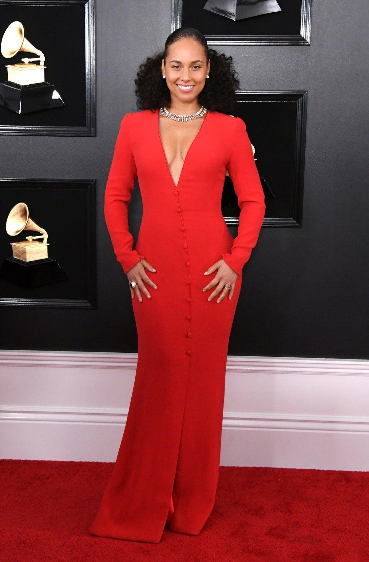 Alicia Keys Dresses Google Search In 2020 Grammy Awards Red Carpet Grammy Dresses Nice Dresses