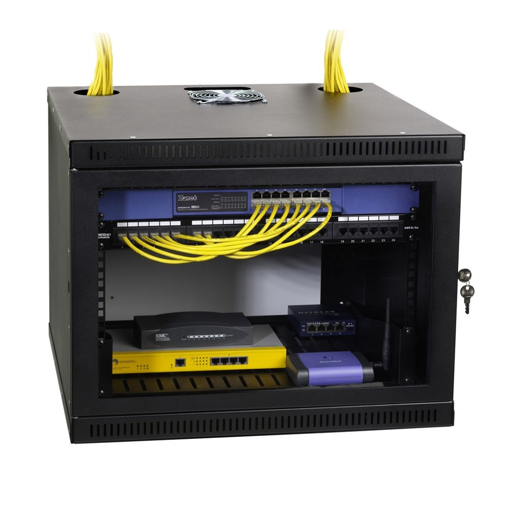 8u Security Wall Mount Cabinet Item 1915 3 100 08 Home Network Wiring