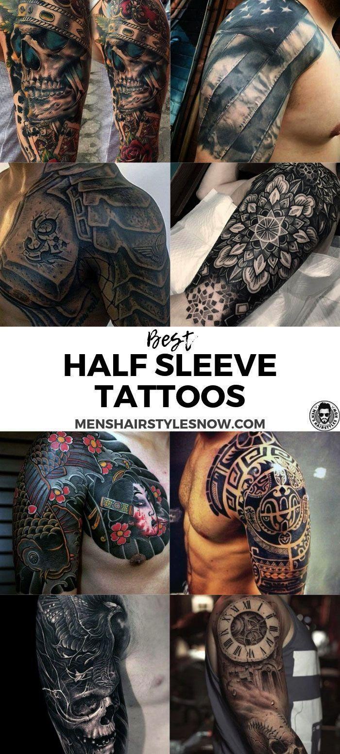 Half Sleeve Tattoos For Men  Best Half Sleeve Tattoos For Men Cool Upper Arm Half Sleeve Tattoo Designs and Ideas  half sleeve tattoos for guys forearm designBest Half Sl...