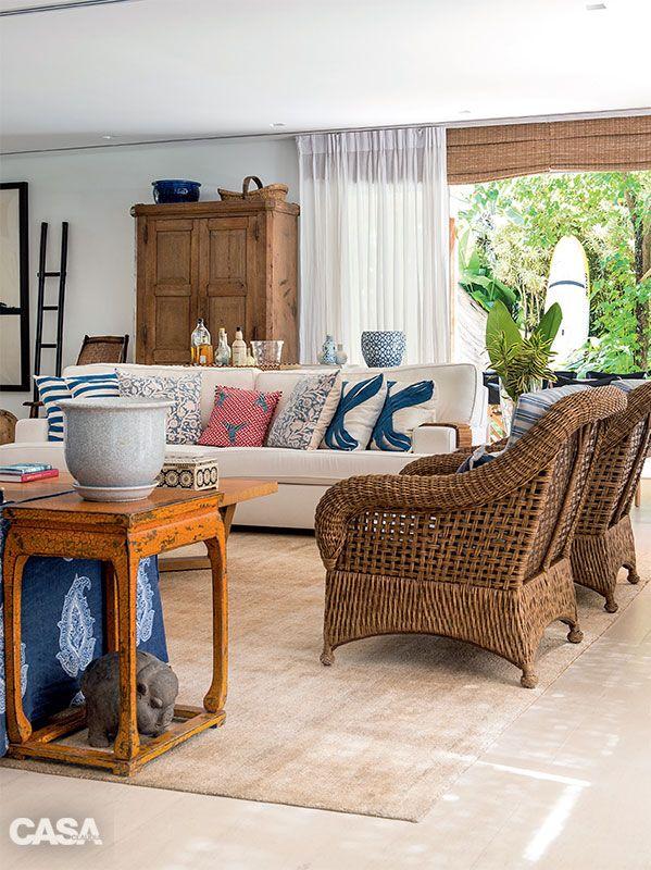 casa de praia em paraty decora o com tons de azul le. Black Bedroom Furniture Sets. Home Design Ideas