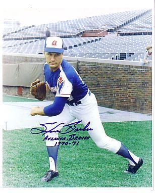 Steve Barber Braves autograph photo