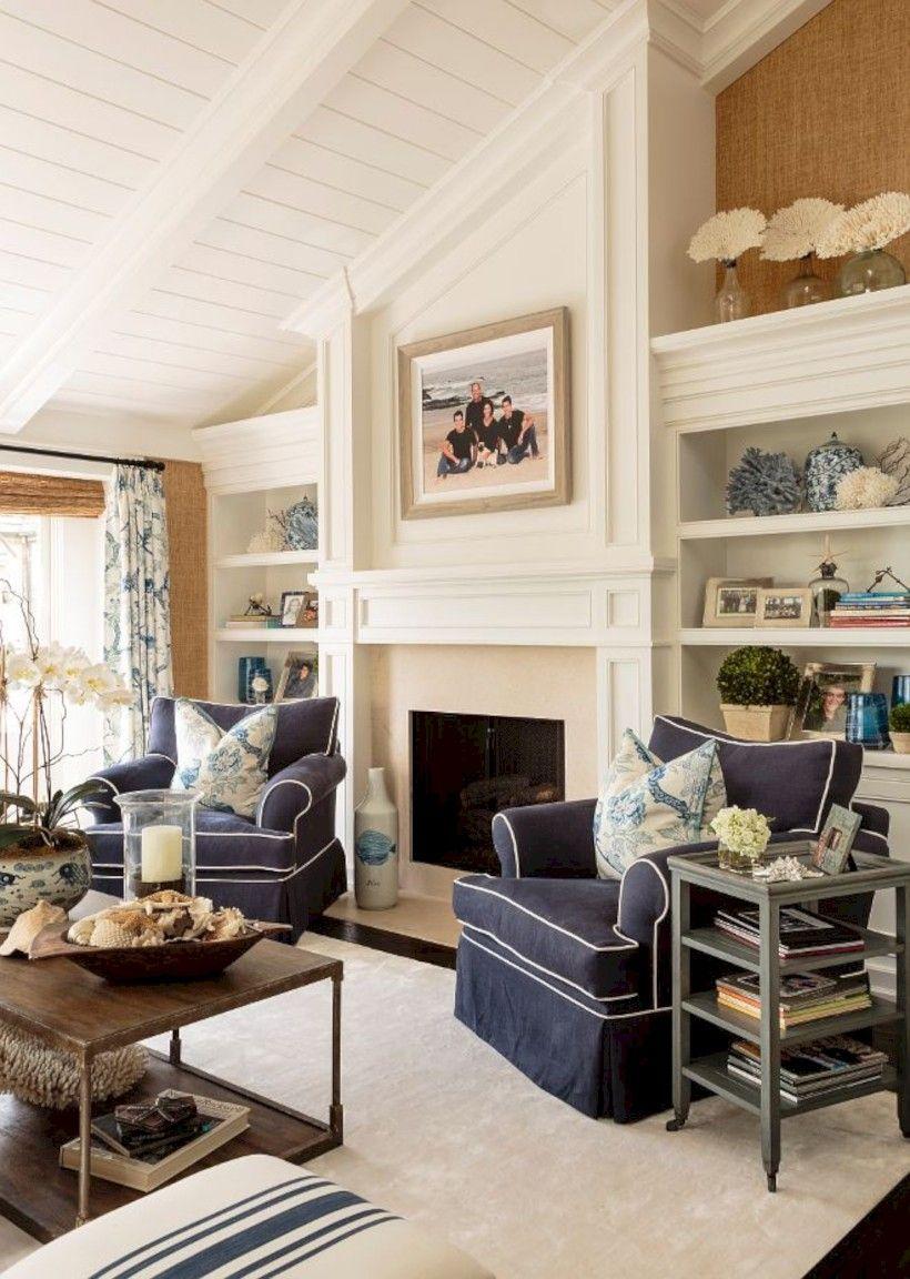 43 Inspiring Coastal Living Room Decor Ideas #coastallivingrooms