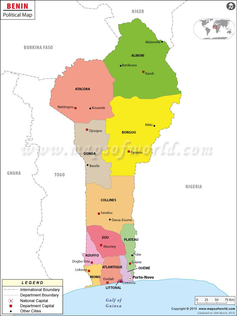 Political Map of Benin maps Pinterest