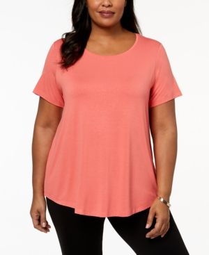 JM Collection Plus Size Short-Sleeve Top, Created for Macy's & Reviews - Tops - Plus Sizes - Macy's 1