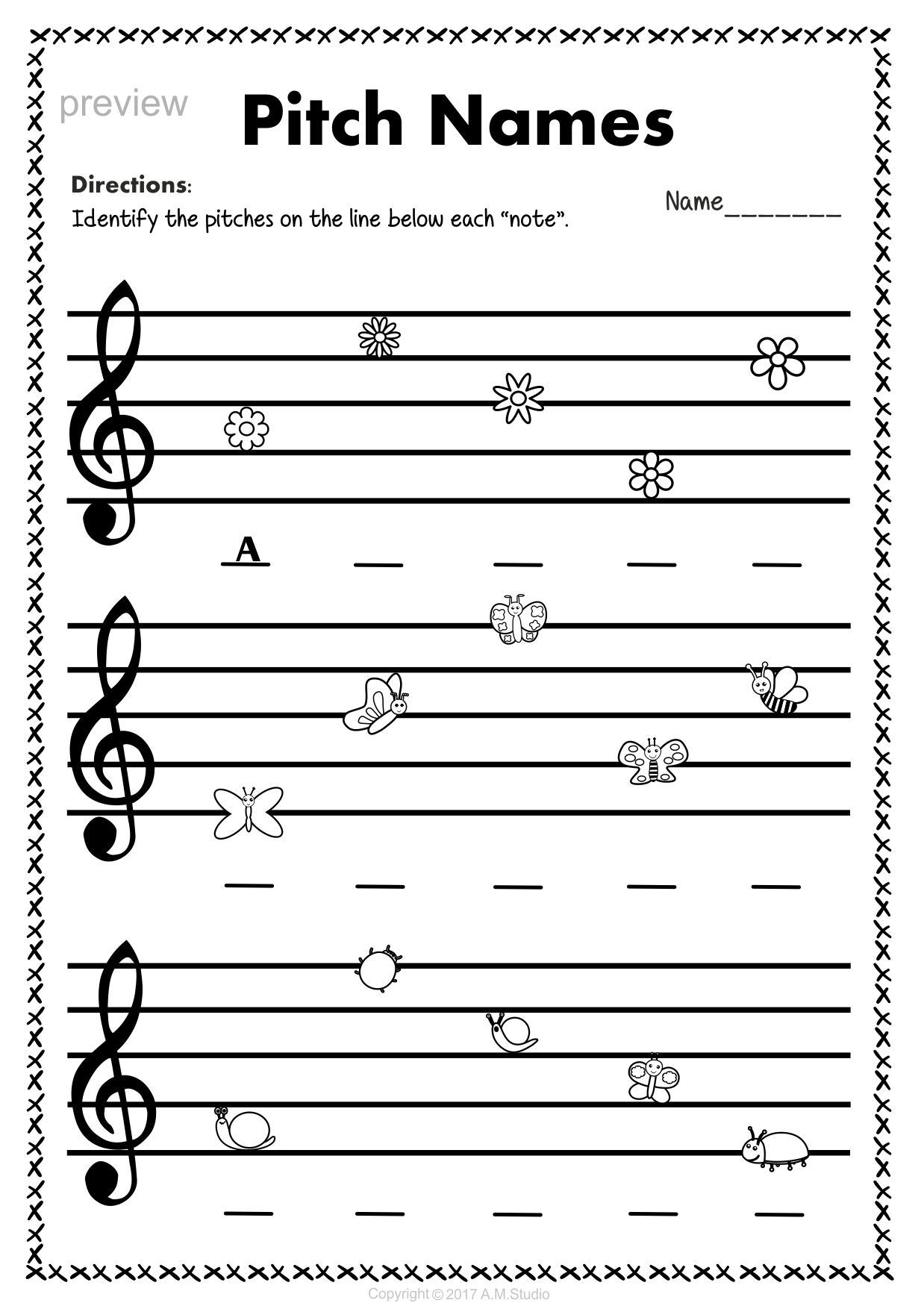 worksheet Note Name Worksheets this set of 10 music worksheets spring themed is designed to help bass clef note naming for anastasiya multimedia studio
