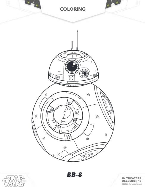 Free Star Wars The Force Awakens Coloring Sheets Activities Raising Whasians Star Wars Coloring Sheet Star Wars Printables Star Wars Activities
