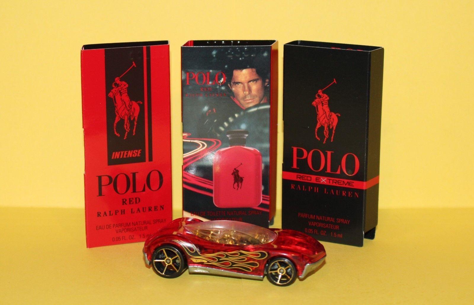 10.97 3 Men's Cologne Samples Ralph Lauren Polo Red