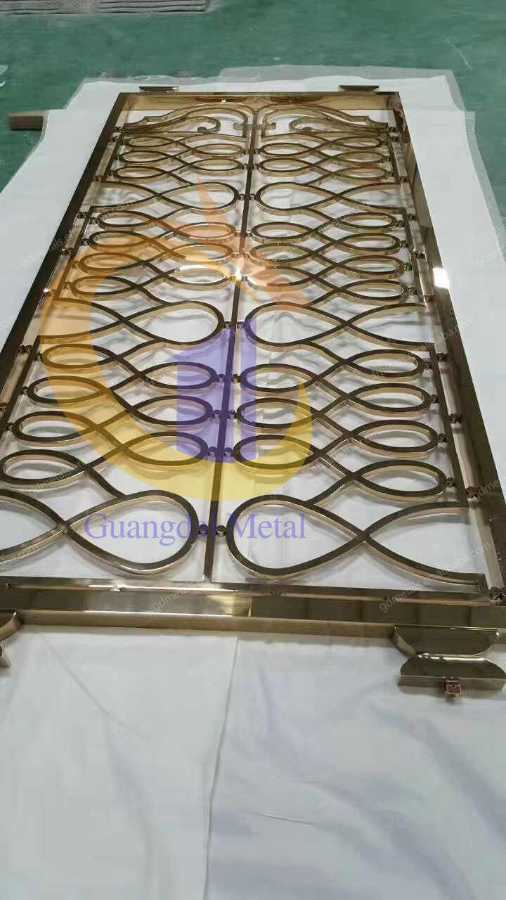 Stainless Steel Decorative Screen Living Furniture Room Divider Metal Restaurant For Dining