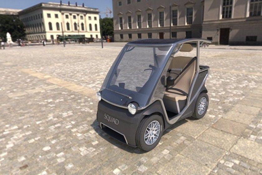 Squad Un Pequeño Coche Eléctrico Impulsado Por Energía Solar Cuyo Precio No Supera Los 6 000 Euros Energía Solar Coche Solar Vehiculo Electrico