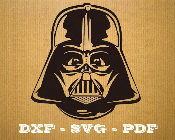 Casque Star Wars Svg Dark Vador Cnc Decoupe Fichier Cricut