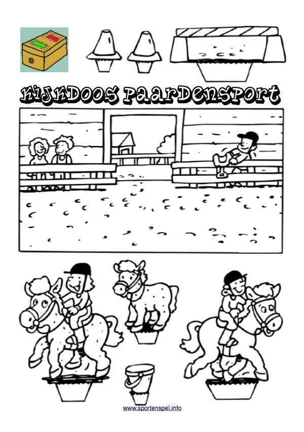Kleurplaten Kijkdoos Paarden.Kijkdoos Paardensport Voor Mijn Paarden Gekke Dochter