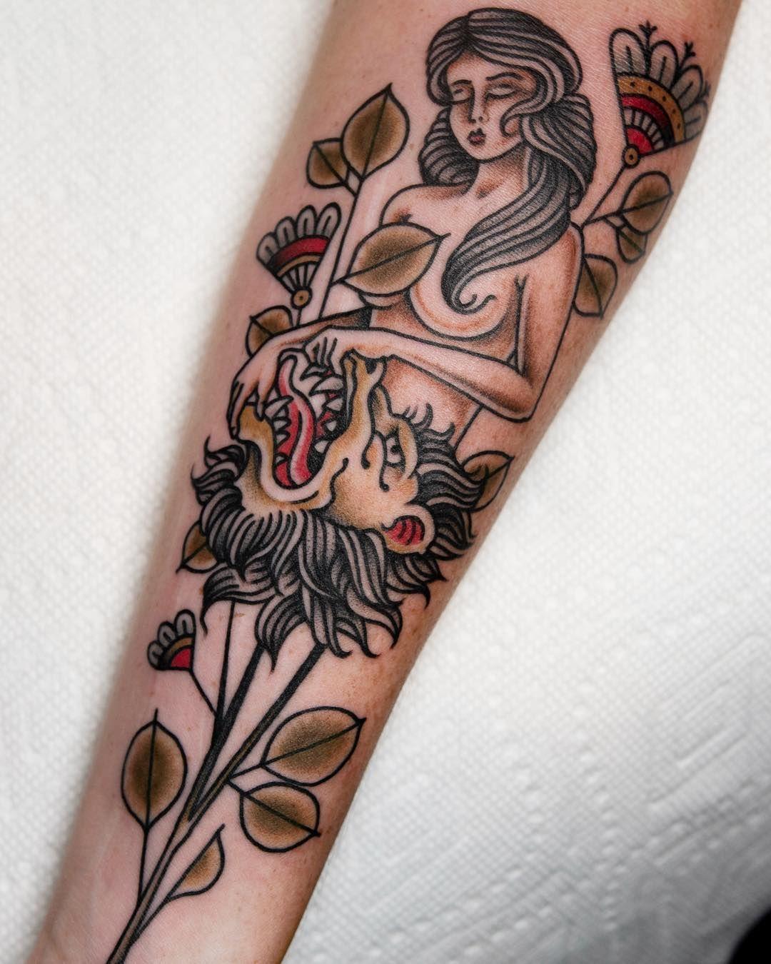 Lion strength tarot card tattoo tattoo ideas and