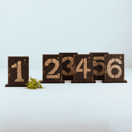 Rustic Self Standing Table Number and Holder
