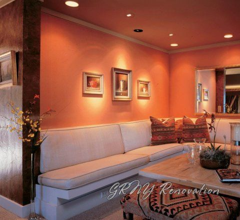 Peach Color Living Room Accent Wall Ideas 13 Room Colors Gold ...
