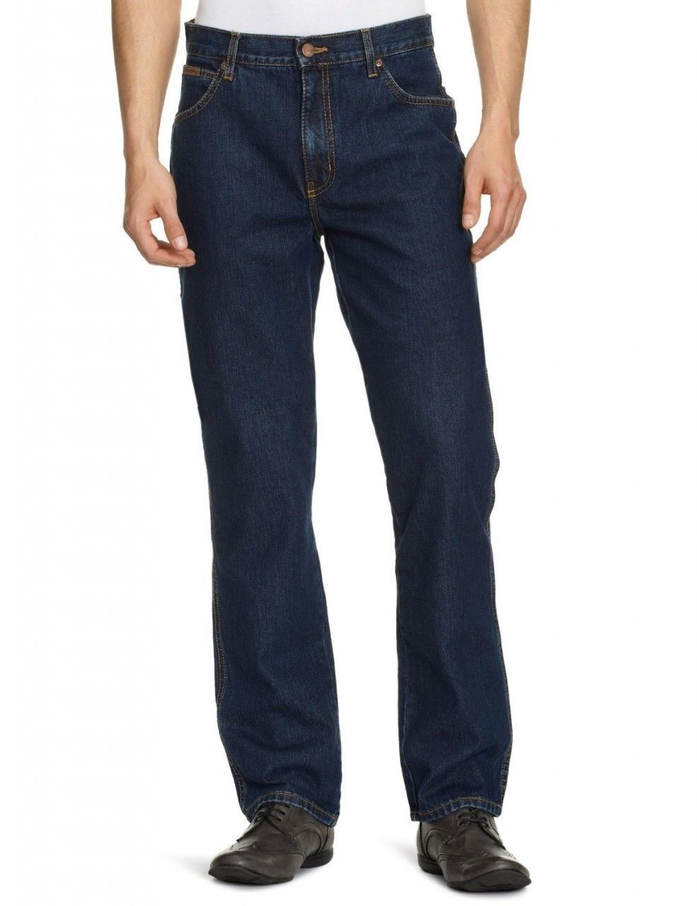 c631dfdf9e50 Wrangler Texas Regular Fit Straight Leg Jeans New Men s Darkstone ...