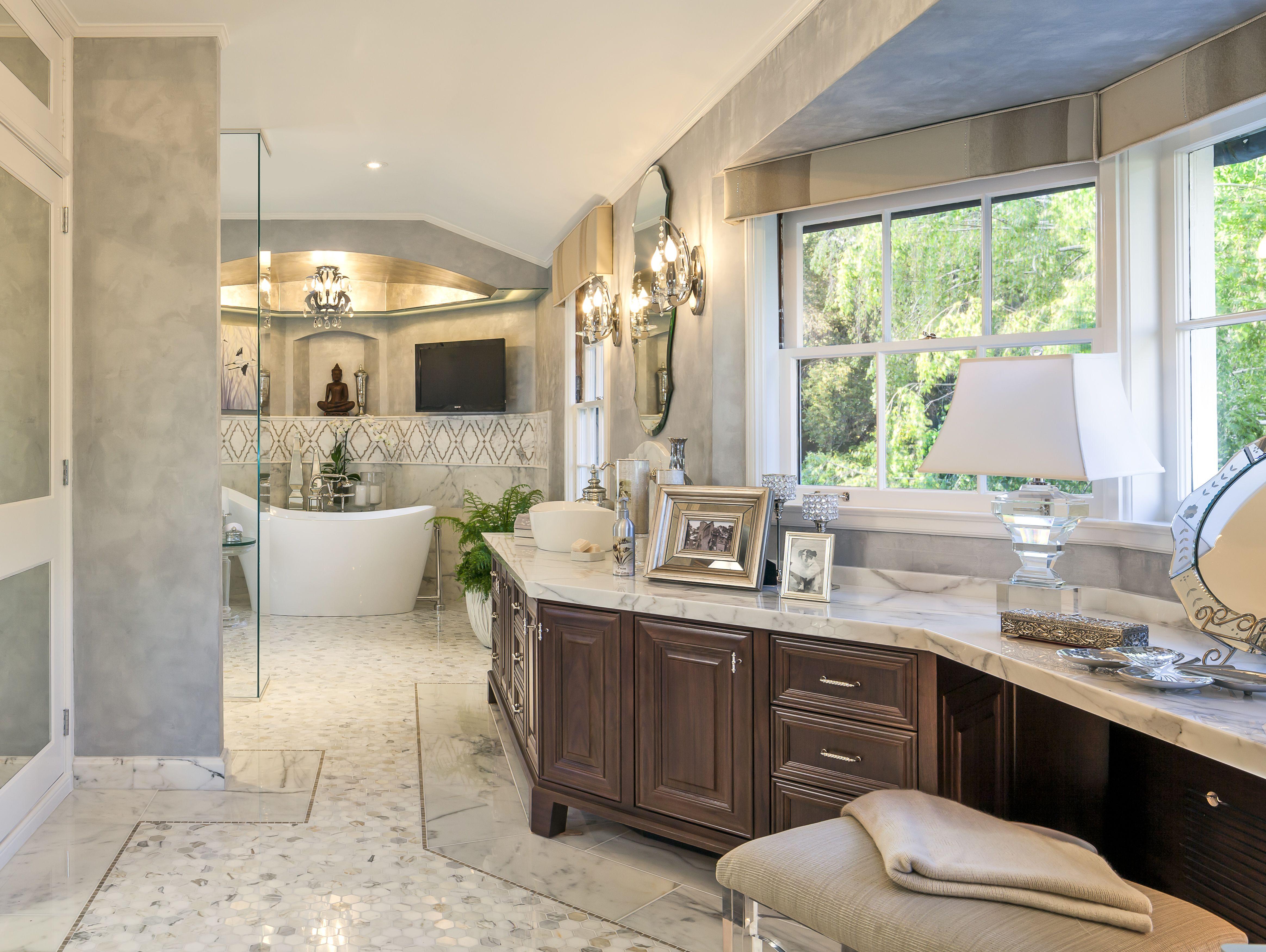 Miraflores woodside ca ladies master bathroom mjm interior