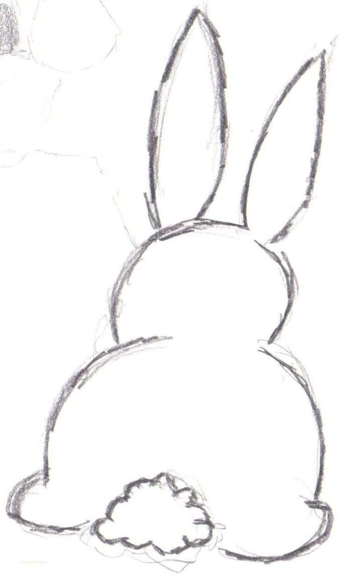 Bunny Outline Drawing Pinterest zeichnen - Architektur und Kunst #uniquecrafts