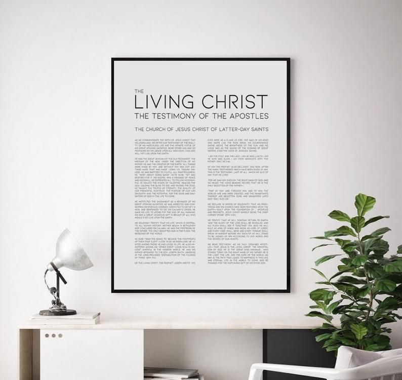 LDS Family Proclamation, Living Christ, Articles Of Faith
