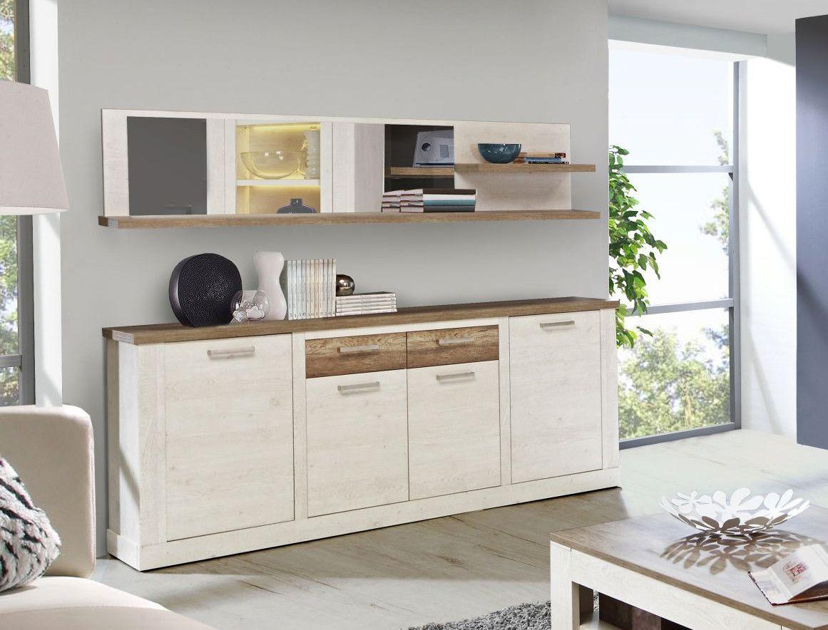 Sideboard Pinia Weiss/ Eiche Antik Woody 77-00570 modern Jetzt ...