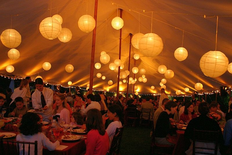 tent lighting ideas. Bistro And Paper Lantern Lighting In Tent Ideas 2