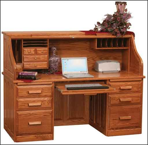 this desk has all kinds of storage! it has both deep drawers for