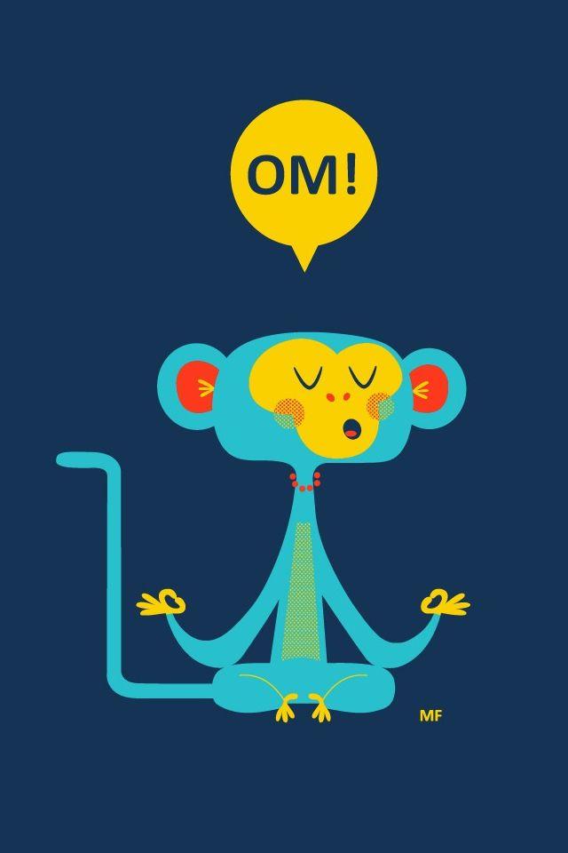 Om Cute Monkey IPhone 4s Wallpaper