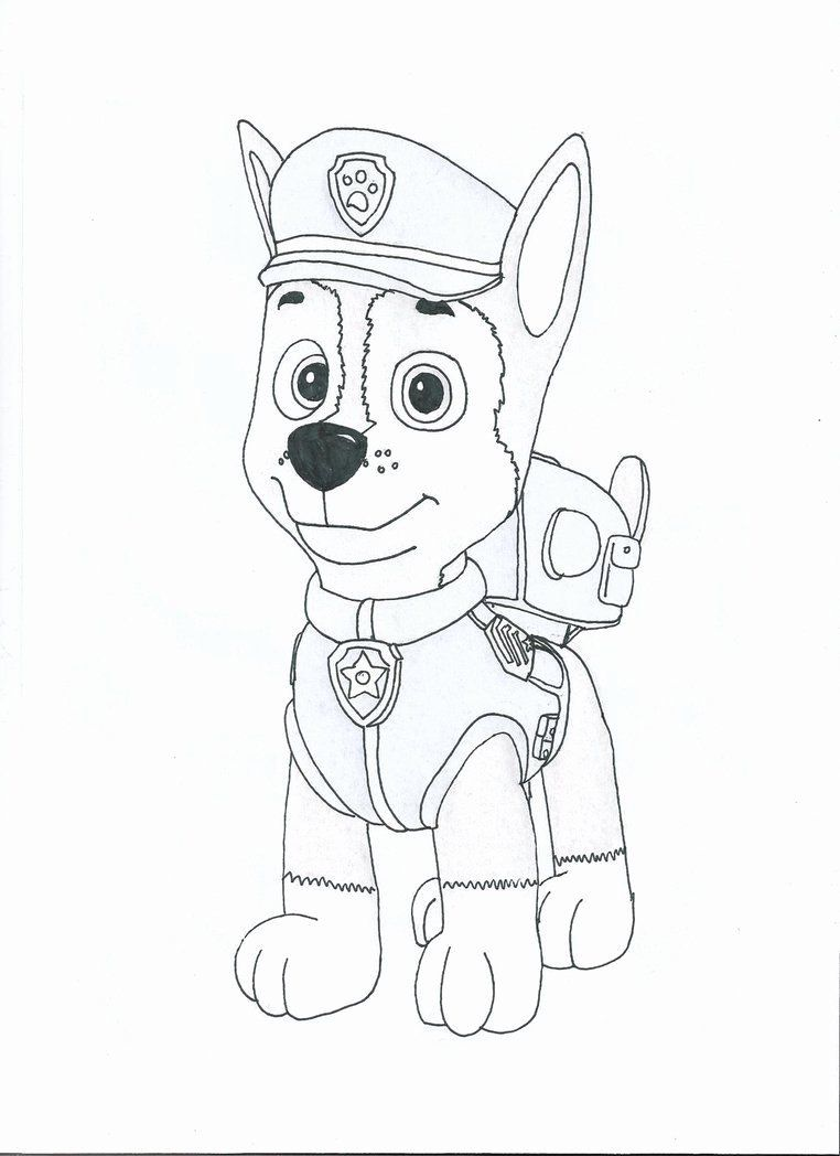 Chase Paw Patrol Coloring Page Luxury Paw Patrol Chase Coloring Page Coloring Home In 2020 Paw Patrol Coloring Pages Paw Patrol Coloring Chase Paw Patrol