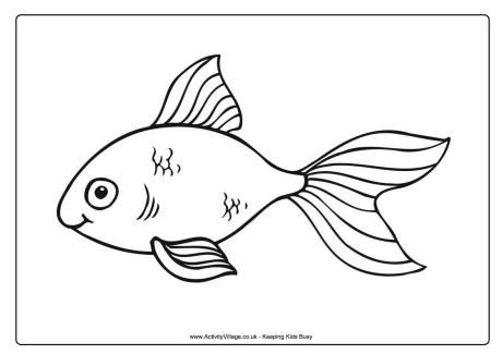goldfish colouring page 2 paper for colors pinterest coloring