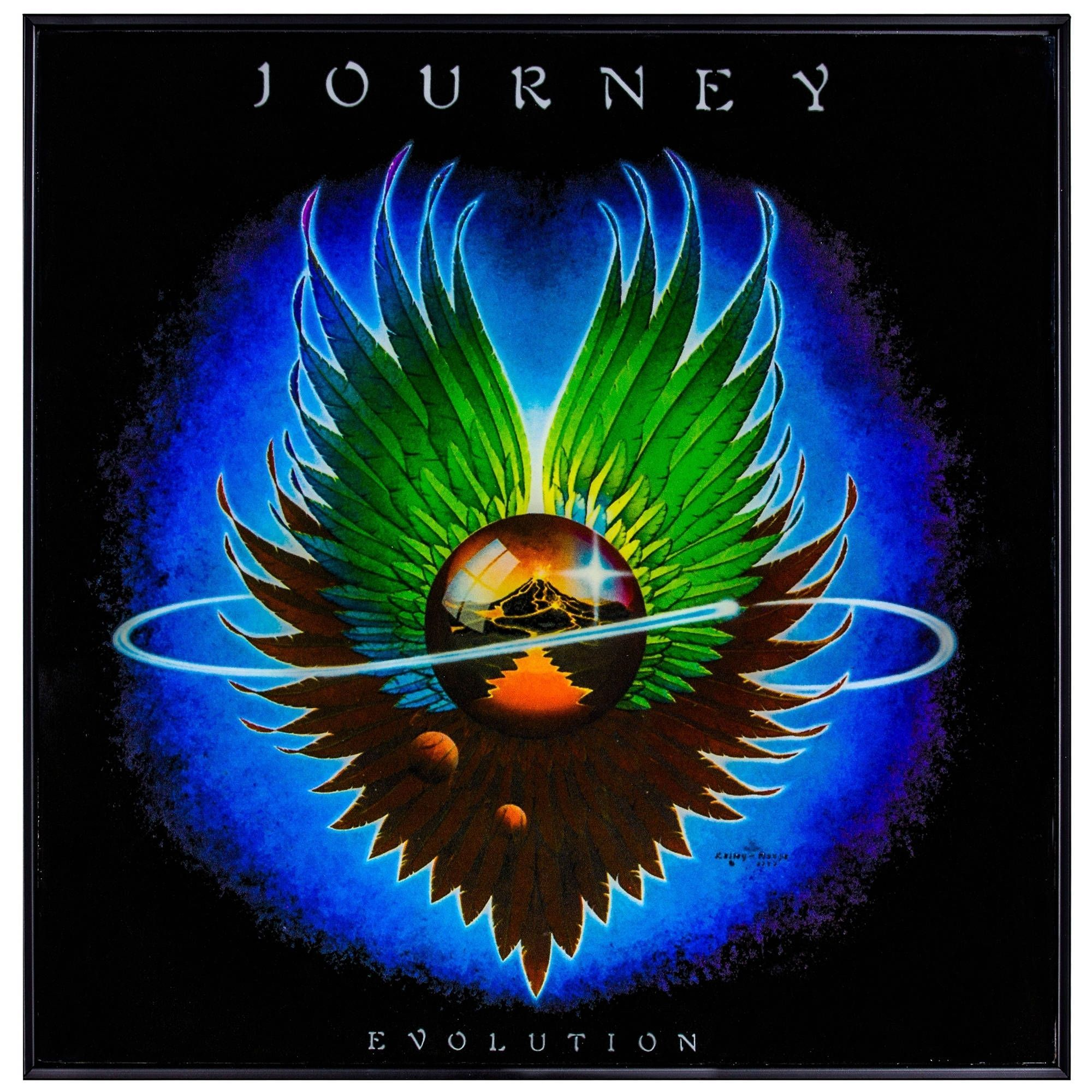 Journey Rock Band EVOLUTION Album Cover Framed Canvas Wall Art