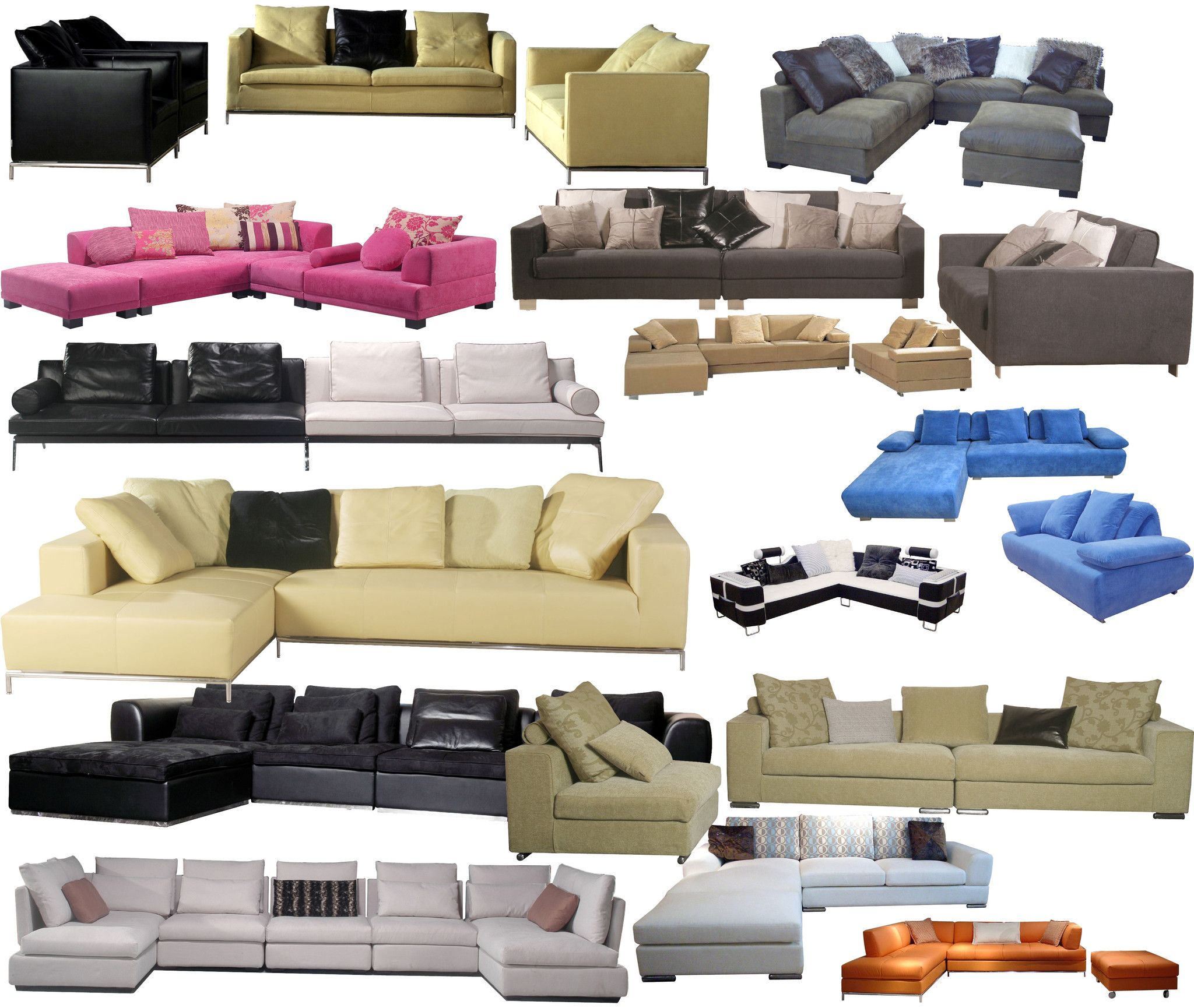 Photoshop Psd Sofa And Chair Blocks V3 Furniture Residential Interior Design Small Bedroom Furniture