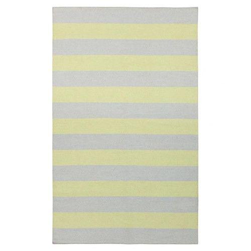 Elegant Draper Stripe Dove U0026 Lemon Rug | Now On SALE
