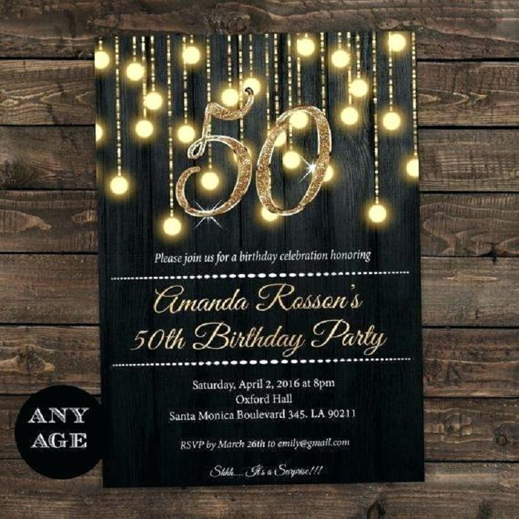 Gold Birthday Invitation Card Create Online