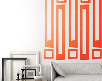 Houndstooth Vinyl Retro Wall Decal Modern Decor
