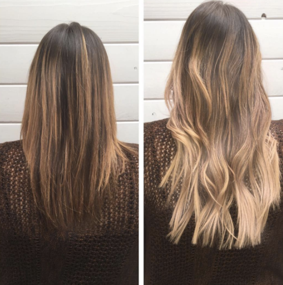 Amazing Before And After With Hotheads Color Melt Tape In Hair