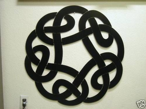 Celtic Knot Metal Wall Art Black 32 Inch Tall Sign Stuff For The