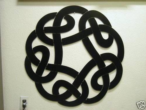 Celtic Wall Art celtic knot metal wall art, black 32 inch tall sign | stuff for