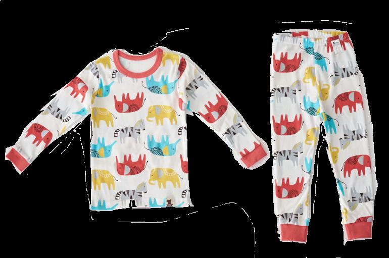 Elephant Pajama Set Baby Pajamas Toddler Pajamas