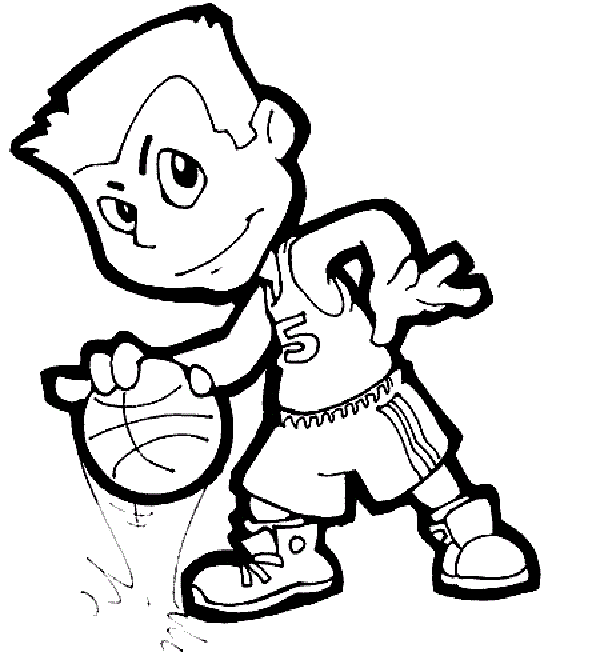 Basketball Coloring Sheets For Kids