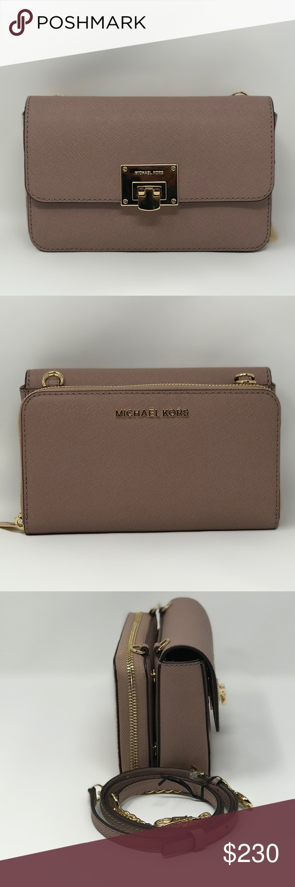 3c46472ddb17 Michael Kors Tina 2 in 1 Handbag   Wallet Clutch Authentic