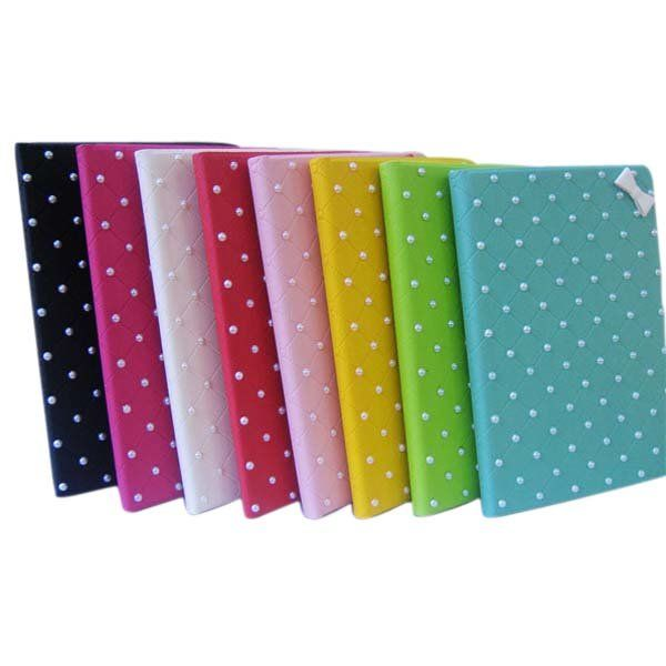 PU Leather Stick Bead Protector Stand Case Cover For iPad Mini