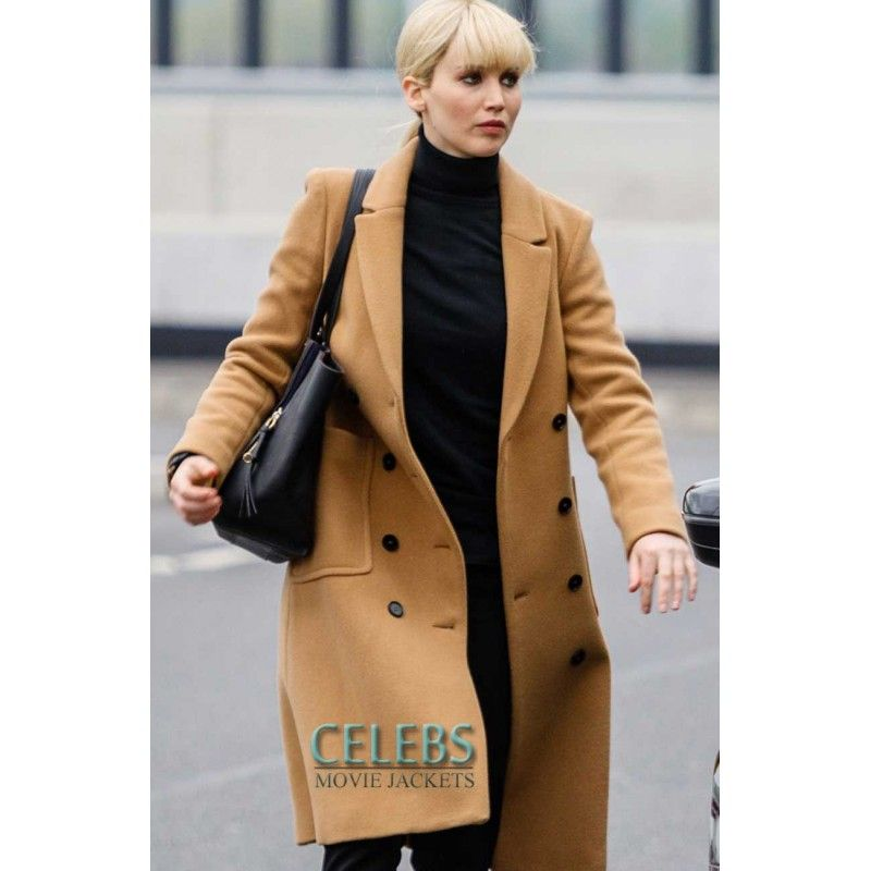 Jennifer Lawrence Red Sparrow Brown Coat Jennifer Lawrence