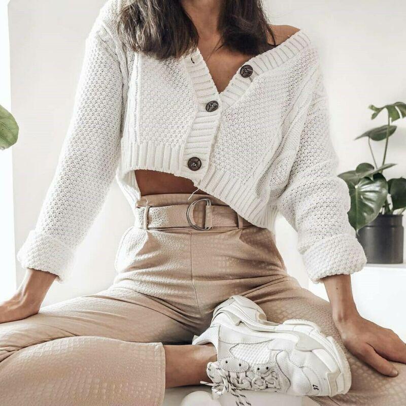 Twist Crochet Cropped Cardigan Knitwear RK