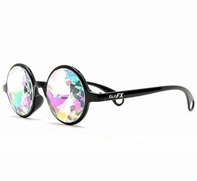 3bf792033488 GloFX Black Kaleidoscope Glasses - Rainbow Diffraction | Sunglasses ...