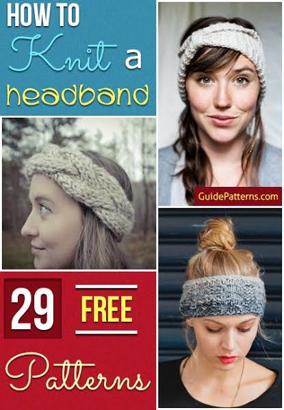 How To Knit A Headband 29 Free Patterns Guide Patterns Knitting